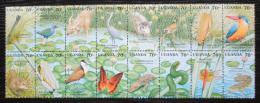 Poštovní známky Uganda 1991 Africká fauna Mi# 2856-71 Kat 19€