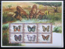 Poštovní známky Zambie 2000 Motýli Mi# 1109-14