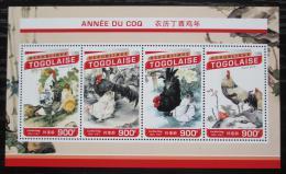 Poštovní známky Togo 2016 Èínský nový rok, rok kohouta Mi# 7734-37 Kat 14€