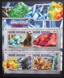 Poštovní známky Guinea-Bissau 2016 Minerály  Mi# 8584-87 Kat 13.50€