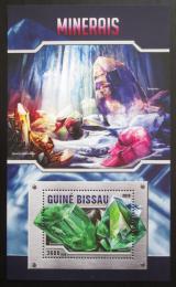 Poštovní známka Guinea-Bissau 2016 Minerály Mi# Block 1486 Kat 13.50€