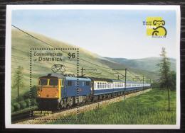 Poštovní známka Dominika 1999 Lokomotiva Mi# Block 375