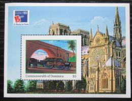 Poštovní známka Dominika 1999 Parní lokomotiva Mi# Block 385