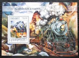 Poštovní známka Mosambik 2016 Parní lokomotivy Mi# Block 1166 Kat 20€