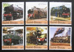Poštovní známky Guinea-Bissau 2004 Lokomotivy Mi# 2741-46 Kat 9€
