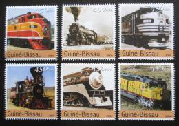 Poštovní známky Guinea-Bissau 2004 Lokomotivy Mi# 2747-52 Kat 11€ - zvìtšit obrázek