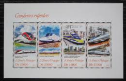 Poštovní známky Svatý Tomáš 2013 Moderní lokomotivy Mi# 5201-04 Kat 10€