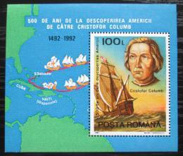Poštovní známka Rumunsko 1992 Kryštof Kolumbus, objevení Ameriky Mi# Block 277