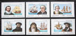 Poštovní známky Bulharsko 1990 Plachetnice a moøeplavci Mi# 3814-19