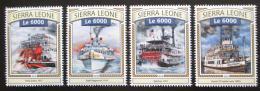 Poštovní známky Sierra Leone 2016 Parníky Mi# 7853-56 Kat 11€