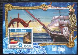 Poštovní známky Sierra Leone 2015 Plachetnice Mi# Block 776 Kat 11€