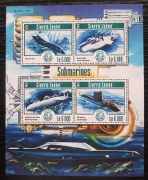 Poštovní známky Sierra Leone 2015 Ponorky Mi# 6214-17 Kat 11€