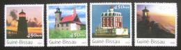 Poštovní známky Guinea-Bissau 2003 Majáky Mi# 2068-71 Kat 7.50€
