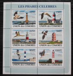 Poštovní známky Komory 2009 Majáky a ptáci Mi# 1953-58 Kat 11€