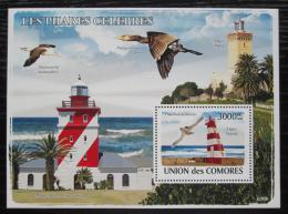 Poštovní známka Komory 2009 Majáky a ptáci Mi# Block 451 Kat 15€