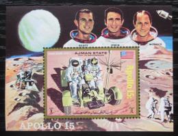 Poštovní známka Adžmán 1971 Prùzkum Mìsíce, Apollo 15 Mi# Block 319 Kat 10€