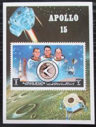 Poštovní známka Adžmán 1972 Prùzkum Mìsíce, Apollo 15 Mi# Block 345