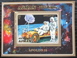 Poštovní známka Adžmán 1971 Prùzkum Mìsíce, Apollo 15 Mi# Block 279 Kat 10€