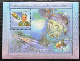 Poštovní známka Togo 2011 Jurij Gagarin Mi# Block 600 Kat 12€