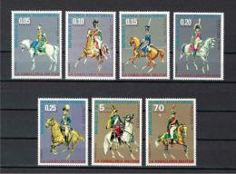 Poštovní známky Rovníková Guinea 1976 Vojenské uniformy Mi# 775-81