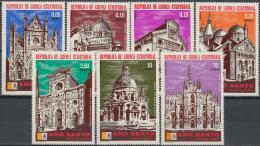 Poštovní známky Rovníková Guinea 1974 Katedrály Mi# 363-69