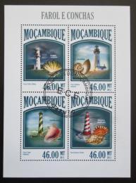 Poštovní známky Mosambik 2013 Majáky a mušle Mi# 6797-6800 Kat 11€