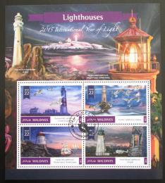 Poštovní známky Maledivy 2016 Majáky Mi# 6185-88 Kat 11€