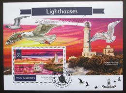 Poštovní známka Maledivy 2016 Majáky Mi# Block 897 Kat 9€