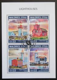 Poštovní známky Maledivy 2018 Majáky Mi# 8050-53 Kat 11€