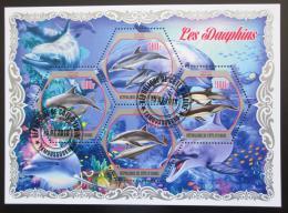 Poštovní známky Pobøeží Slonoviny 2018 Delfíni Mi# N/N