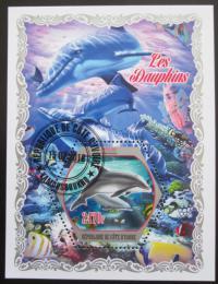 Poštovní známka Pobøeží Slonoviny 2018 Delfíni Mi# N/N