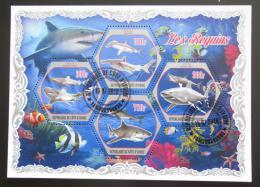 Poštovní známky Pobøeží Slonoviny 2018 Žraloci Mi# N/N