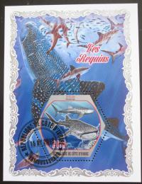 Poštovní známka Pobøeží Slonoviny 2018 Žraloci Mi# N/N