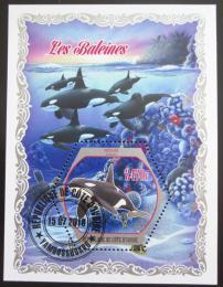 Poštovní známka Pobøeží Slonoviny 2018 Velryby Mi# N/N