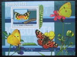 Poštovní známka Svatý Tomáš 2009 Motýli Mi# Block 676 Kat 10€