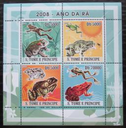 Poštovní známky Svatý Tomáš 2008 Žáby Mi# 3350-53 Kat 12€