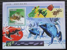 Poštovní známka Svatý Tomáš 2008 Žáby Mi# Block 640 Kat 12€