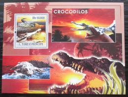 Poštovní známka Svatý Tomáš 2008 Krokodýli Mi# Block 641 Kat 12€