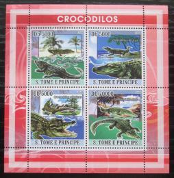 Poštovní známky Svatý Tomáš 2008 Krokodýli Mi# 3355-58 Kat 12€