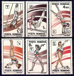 Poštovní známky Rumunsko 1991 Gymnastika Mi# 4655-60