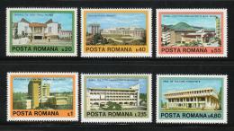 Poštovní známky Rumunsko 1979 Moderní architektura Mi# 3601-06