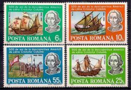 Poštovní známky Rumunsko 1992 Kryštof Kolumbus, lodì Mi# 4824-27