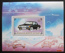 Poštovní známka Mongolsko 1989 Automobil Volha Mi# Block 139