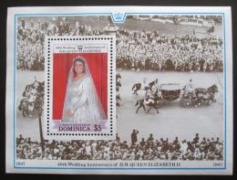 Poštovní známka Dominika 1988 Královská svatba, 40. výroèí Mi# Block 126