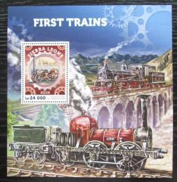 Poštovní známka Sierra Leone 2016 Parní lokomotivy Mi# Block 957 Kat 11€