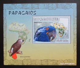 Poštovní známka Mosambik 2007 Papoušci Deluxe Mi# 3023 Block