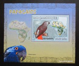 Poštovní známka Mosambik 2007 Papoušci Deluxe Mi# 3024 Block