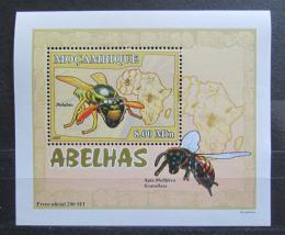 Poštovní známka Mosambik 2007 Vèely a vosy DELUXE Mi# 2936 Block