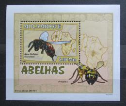 Poštovní známka Mosambik 2007 Vèely a vosy DELUXE Mi# 2937 Block