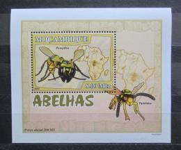 Poštovní známka Mosambik 2007 Vèely a vosy DELUXE Mi# 2938 Block